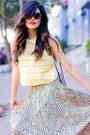 Love-skirt-light-yellow-crop-top-lace-forever21-shirt