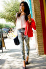 Periwinkle-denim-florals-nordstrom-jeans-carrot-orange-zara-blazer