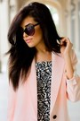 Light-pink-smythe-blazer-white-forever21-dress-black-strappy-zara-heels