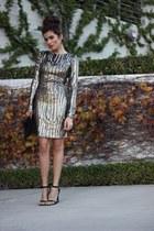 black clutch bcbg max azria bag - sequins sparkle Little Mistress dress