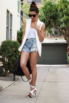 white blazer Target vest - light blue Levis jeans