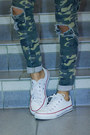 White-converse-shoes-army-green-camo-jeans-forever21-jeans