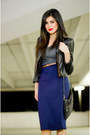 Navy-pencil-skirt-love-skirt-black-leather-jacket-forever21-jacket