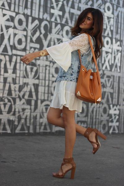 white Alloy Apparel dress - bronze just fab bag