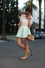 Button-down-zara-shirt-aquamarine-lookbookstore-skirt