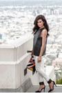 Black-kahlo-top-white-skinny-jeans-mango-jeans-clutch-nila-anthony-bag