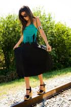 Gabriela Dias top - sandalss Forever21 clogs - maxi skirt asos skirt