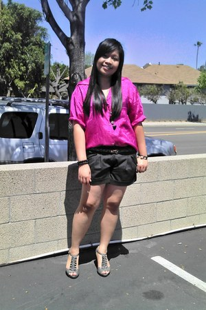 thrifted blouse - Charlotte Russe shorts