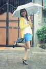 Yellow-sm-dept-cardigan-blue-sm-dept-skirt-black-parisian-jr-shoes-black-l