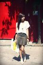 White-stepdads-shirt-brown-random-skirt-white-moodoo-ology-canvas-bag-whit