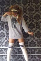 Topshop socks - Topman jumper - French Connection belt
