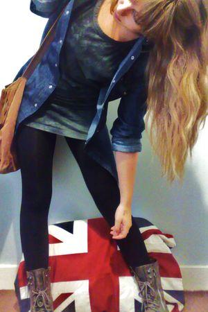 Fashionist boots - Twentyone Store shirt - Twentyone Store top - Miss Selfridge