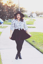 H&M boots - asos hat - Forever 21 shirt - TJ Maxx skirt