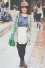 Urban-outfitters-boots-target-hat-gap-jacket-h-m-top-h-m-skirt