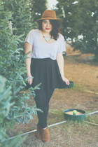 Target hat - Dolce Vita boots - cotton on skirt - asos necklace