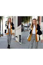 Reformation jacket - Reformation vest - AGAIN pants - LD Tuttle heels