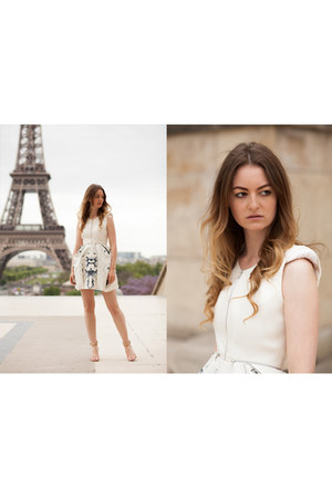 white Iris Cantabri dress
