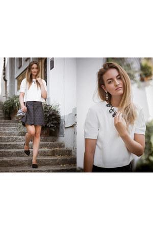 blue Tara Jarmon skirt - light blue paul & joe bag - white Tara Jarmon t-shirt
