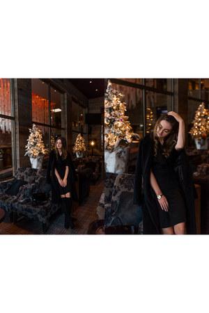 black La Redoute boots - black La Redoute dress - black La Redoute blazer