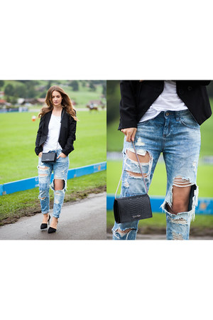 black Zara shoes - light blue c&a jeans - black Vero Moda blazer