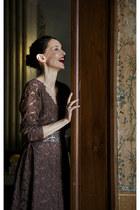 light brown lace dress