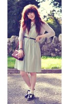 aquamarine midi Urban Outfitters dress - black patent Topshop shoes