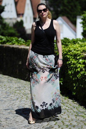 aquamarine maxi DIY skirt - black snakeskin Hoffnung Berlin bag
