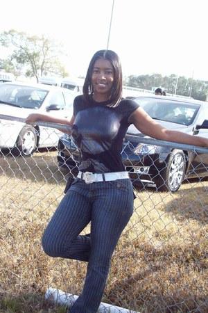 black spandex cotton jeans
