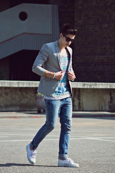Zara blazer - Bershka jeans - Bershka top - H&M bracelet