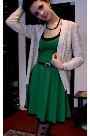 black Black dots tights - green lace Altered beloved dress