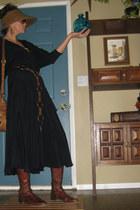 brown Fossil bag - dark brown Donna Carolina boots - black Phoebe dress