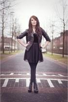 Vero Moda jacket - H&M dress - Kenzaa heels - H&M belt