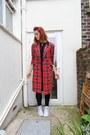 Red-st-michael-coat-black-american-apparel-leggings