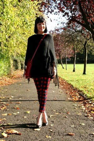 red tartan trousers Zara pants