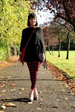 red tartan trousers Zara pants