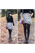 silver All Saints skirt