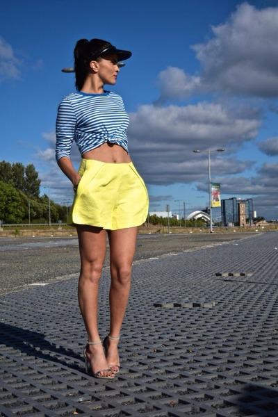 blue stripes Zara blouse