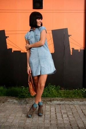 sky blue Levis dress