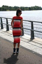 red striped bodycon market bought dress