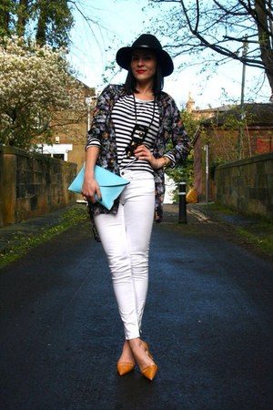 white skinnies H&M jeans