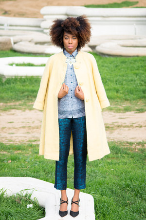vintage coat - expess pants - Kurt Geiger heels