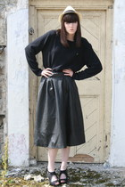 Penneys hat - menswear Penneys jumper - Penneys heels - Shutterbug skirt