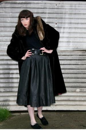 dark brown faux fur vintage coat - brown fur stole Vintage Shutterbug scarf