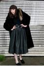 Dark-brown-faux-fur-vintage-coat-brown-fur-stole-vintage-shutterbug-scarf