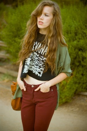 black brandy melville top - olive green brandy melville shirt