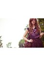 Black-francescas-collections-shorts-light-purple-forever-21-top