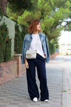 Uterque shoes - Mango jacket - H&M bag - Stradivarius pants
