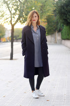 Bimba & Lola coat - Mango leggings - Ralph Lauren shirt