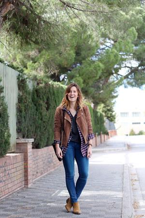Stradivarius jacket - Zara boots - Levis jeans - Zara shirt - H&M top
