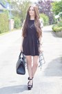 Black-c-a-dress-black-h-m-bag-black-h-m-heels-white-h-m-cardigan